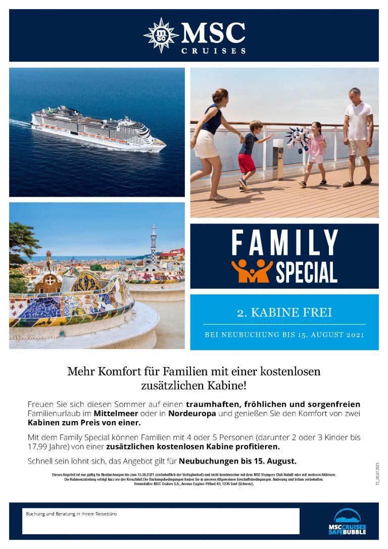 MSC Cruises - Family Special bis Aug2021_Jul21